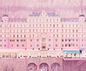 pastel, pink, and the grand budapest hotel image