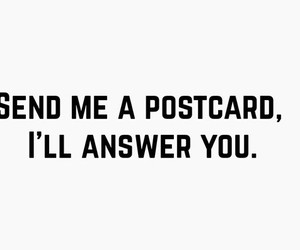 postcard, send, and answer image