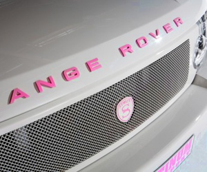 pink, car, and range rover image