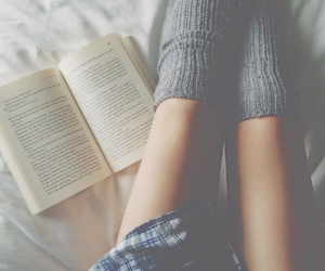 book, bed, and tumblr image
