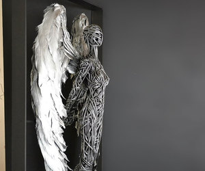 human body, wings, and sculptures image