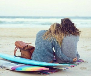 beach, photography, and cuddle image
