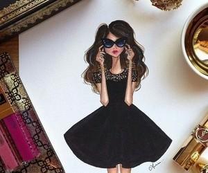 fashion, drawing, and black image