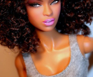 barbie, doll, and black image