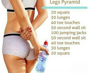 exercise, fit, and squats image