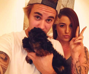 justin bieber, esther, and puppy image