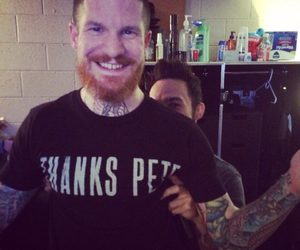 pete wentz, thanks, and fall out boy image