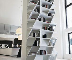 interior, bookshelf, and room image