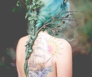 awesome, blue, and hairstyle image