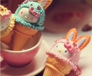 cute, hello kitty, and ice cream image
