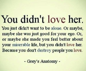 love, quotes, and grey's anatomy image