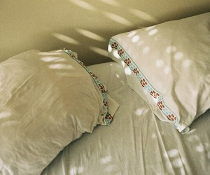 bed, indie, and pillow image