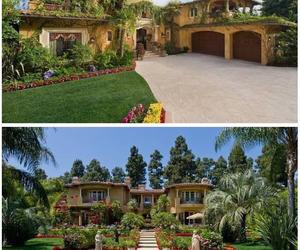 back, back yard, and green image