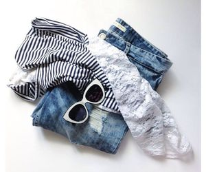 accessories, denim, and fashion image