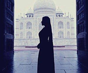 india, taj mahal, and woman image