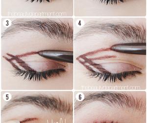 makeup, eyes, and diy image
