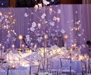 centerpieces, cool, and wedding image