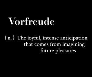 german, text, and vorfreude image