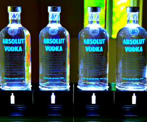 absolut, blue, and drink image