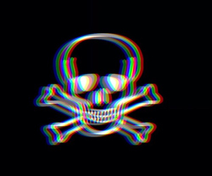 skull, black, and grunge image