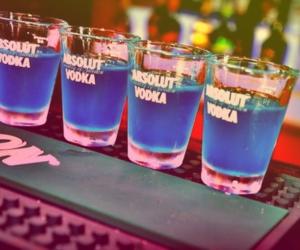 vodka, blue, and drink image