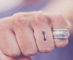 tattoo, arrow, and hand image