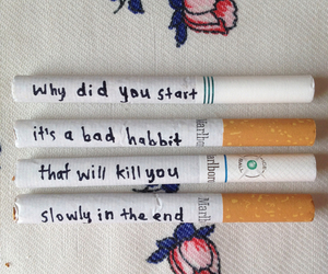 cigarette, smoke, and kill image