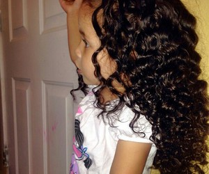 baby girl, curly hair, and cute hair image