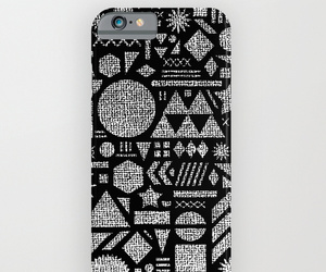 black and white, apple iphone 5 6, and pattern triangles image