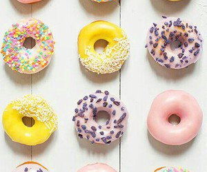 background, tasty, and donut image