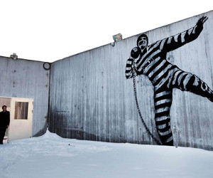 Dolk, street art, and wall image