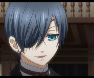 blue eyes, kuroshitsuji, and ciel phantomhive image