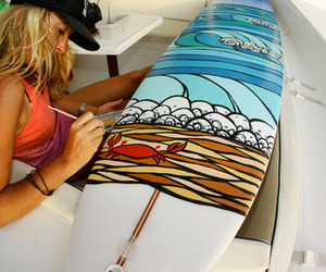 surf, summer, and art image