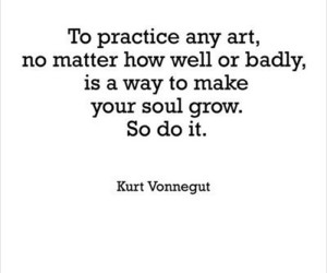 quote, art, and kurt vonnegut image