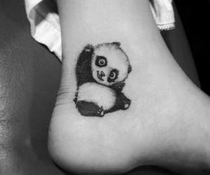 aww, panda, and tatoo image