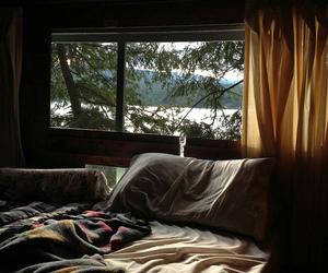 bed, bedroom, and vintage image