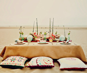 beach and dinner image
