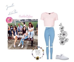 jeans, pastel, and style image