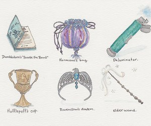 harry potter, book, and deathly hallows image