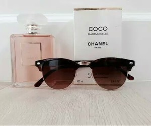 chanel, pink, and sunglasses image