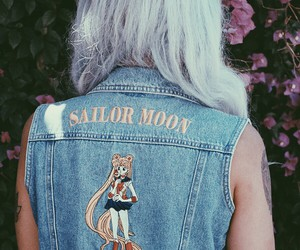 sailor moon, hair, and grunge image