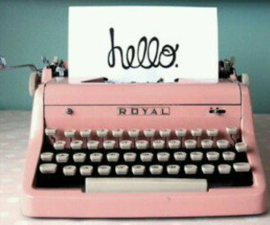 pink, hello, and vintage image