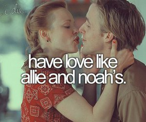 love, the notebook, and noah image