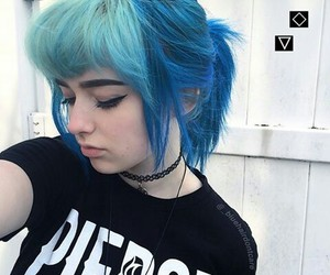 blue, blue hair, and hair image
