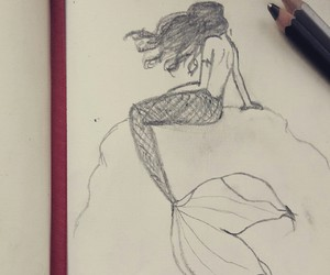 mermaid, draw, and drawing image