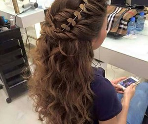 hair, beautiful, and curls image