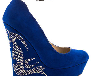 high heels, pumps, and blue shoes image