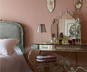 bedroom, vintage, and pink image