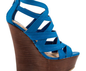 blue heels, high heels, and pumps image