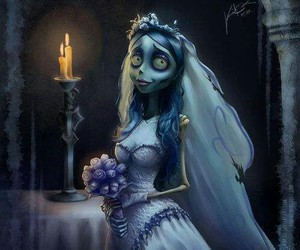 bride, emily, and corpse bride image